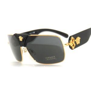 08555b427f7 Men s Black And Gold Versace Sunglasses on Poshmark